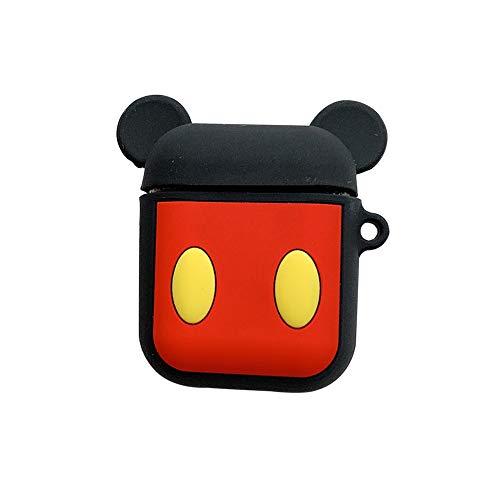 Funda para AirPods 1 2 Mickey Mouse Accesorio para AirPod portátil y Funda Protectora de Silicona para Apple Airpod Dibujos Animados Disney