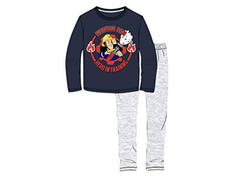 Feuerwehrmann Sam Schlafanzug Pyjama (116, Navy)