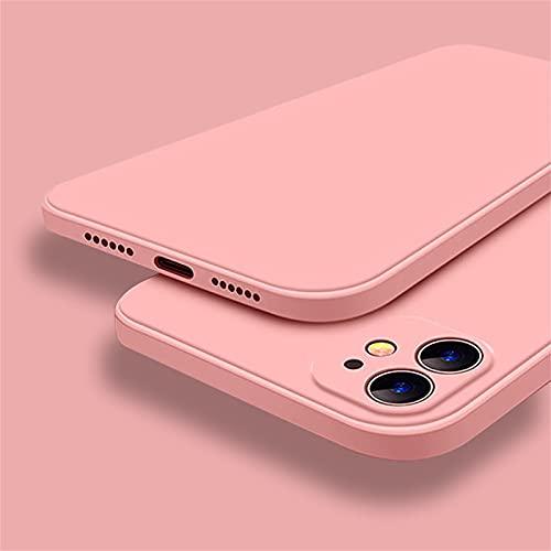 Hadwii - Carcasa de silicona líquida para iPhone 8 Plus, iPhone 7 Plus, funda de silicona premium, forro de microfibra suave, labio elevado para pantalla y cámara, protección completa (rosa)