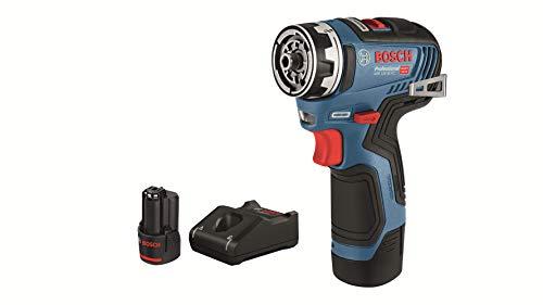 Bosch Professional 12 V accuschroevendraaier 2 x 3,0 Ah accu in L-Boxx. blauw