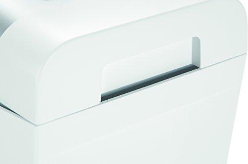 HSM shredstar S5 Destructeur de documents degré de sécurité 2 5 feuilles coupe en bandes Blanc/Argent