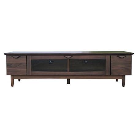 ISSEIKI テレビボード TVボード ミディアムブラウン 幅150cm ウォルナットの美しいデザイン 木製家具 VELOCE 150TV (W-PU)