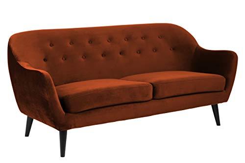 Amazon Brand - Movian Lina - Divano a 2 posti e mezzo, 82 x 184 x 82 cm (Lu x La x A), colore rame, gambe nere in legno