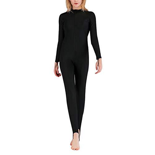 ZQDL - Traje de baño de manga larga para mujer, traje de protección solar con palmaditas