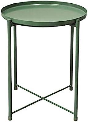 HUGUJ Nordic Style Modern Metal Small Coffee Table Sofa Side Tea Table for Living Room Simple Household Furniture