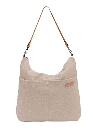 BIBA Shoulder Bag Be Natural CHO2B CHOCO BISCUIT – White