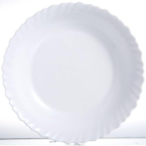 Luminarc H4989 Piatto 28 cm-FESTON, Opale-Vetro Temperato, Bianco