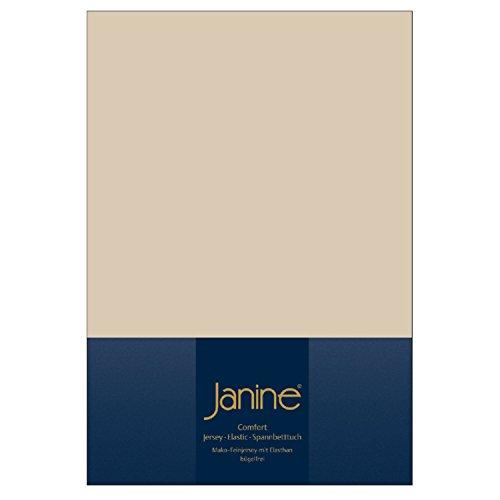 Janine Design Jersey Elastic Spannbetttuch Sand, 90x190 cm - 100x220 cm