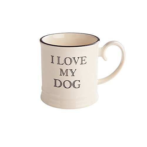 Fairmont Principale & amp; 300 ml, Terracotta, I Love My Dog Quips e Citazioni Mug Creme