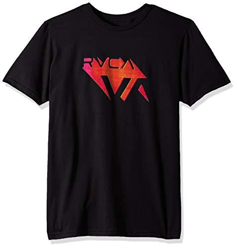 RVCA Men's 3D Va T-Shirt Black Medium