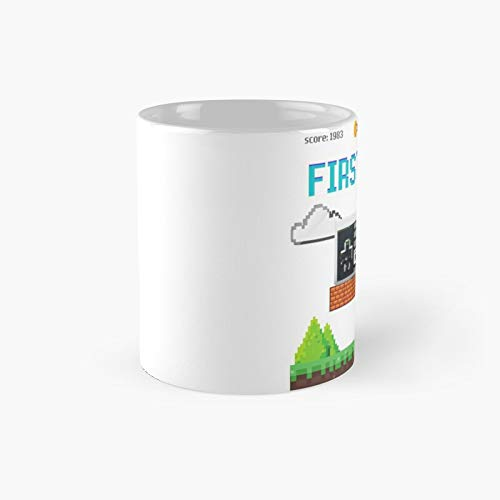 First Love Gaming Classic Mug - Funny Gift Coffee Tea Cup White 11 Oz The Best Gift For Holidays.