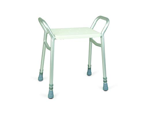 Days Lightweight Height Adjustable Shower Stool, Bath Seat and Mobility Aids, White Chair