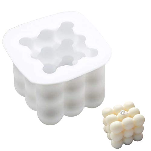 Tiruiya Antihaft Bubble Candle silikonform, Handgemachte Sojawachs Kerzenform, 3D-Schokoladen-Backformen, DIY Backwerkzeuge für Seife, Pudding, Kuchen (1 Stück Blasenform)