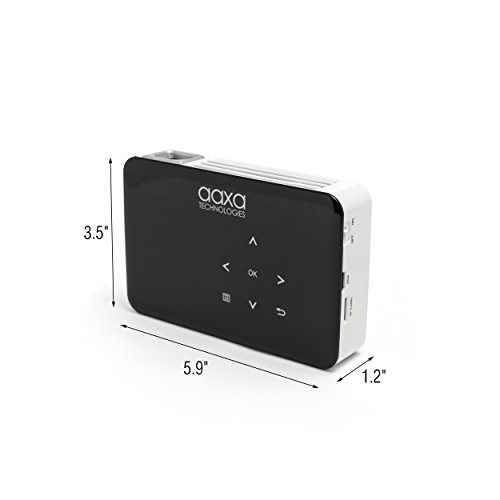 AAXA P300 Neo LED Video Projector with 2.5 Hour Rechargeable Battery, Onboard Media Player, HDMI/Mini VGA/USB/microSD Inputs, iPhone iPad PS4 Xbox Compatible, 1080p Support Photo #3
