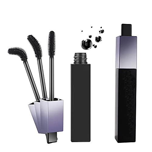 Rotating Brush Head Waterproof Mascara, verlängerungswimperntusche, 4d seidenfaser wimpern mascara wasserdicht, Buschig, zusammengerollt, den ganzen Tag haltbar (2pcs)