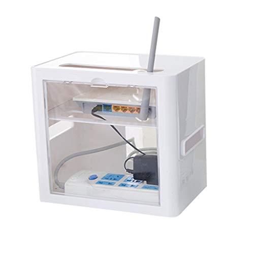 Router Storage Organizer Box,cavo di alimentazione contenitore,spina,cavo per computer,hub USB per Home Office e Entertainment Center