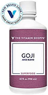 The Vitamin Shoppe Goji Juice (Goji Berries), A Natural Juice Blend, Superfood, Antioxidant, Harvested from The Lycium Pla...