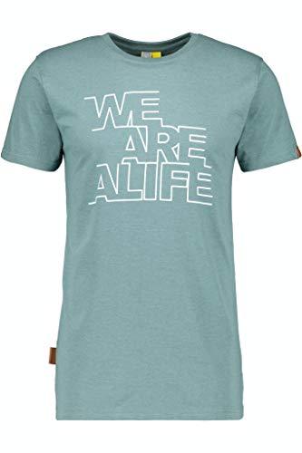 Alife and Kickin Herren LogoAK T-Shirt, Smoke, M