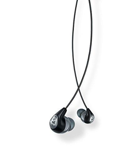 SHURE SE112-GR-E - Auriculares in-ear con aislamiento de sonido, graves profundos, Negro/Gris