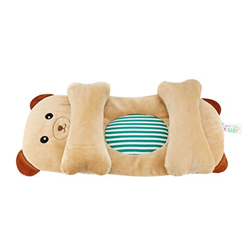 Besties Newborn Baby Cute Cartoon Baby Pillow, Positioner Shaping Adujustable Baby Pillow 0-12 Months (Brown)