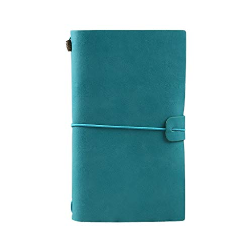 TCM-KE Cuaderno de viaje elegante, hecho a mano, de cuero, con grabado, con mensajes, encuadernado de cuero, cuaderno, bloc de notas