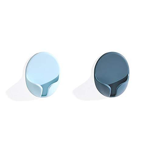 2-Pack Plastic Adhesive Hooksfor Plugs Toothbrush,Plug Hooks Drill-Free Innovative Socket Holders for Smooth Surface