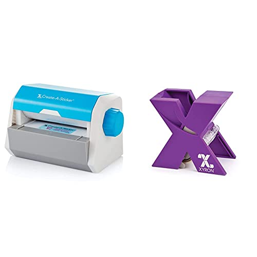 Xyron Create-a-Sticker, 5', Sticker Maker, Machine, Permanent Adhesive (0501-05-10A) & X150 Sticker Maker, for Scrapbooking, Crafts, Cards, School Projects (XRN150),Purple