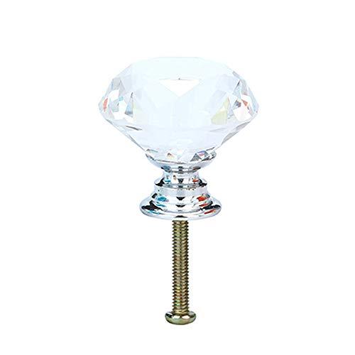 MAIKEHOME 10 X 40 MM de cristal acr/ílico Puerta de gabinete de corte de diamantes Perilla de caj/ón de la cocina Aparador Armario Tirador con tornillos para la decoraci/ón del hogar Perillas de cristal