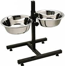 Pets Empire Stainless Steel Double Diner Food Bowl Stand for Dog (Large)