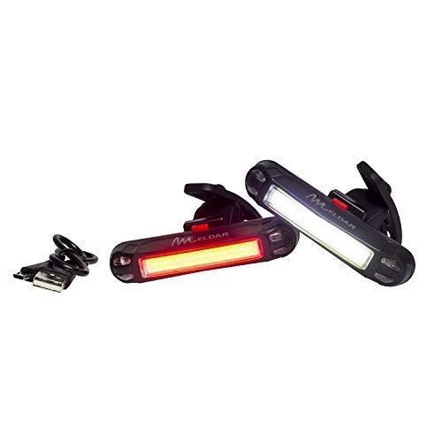 Luz de Bicicleta con LED Potente. Luz Intermitente USB Recargable con 6 Modalidades. Faro para Bici Brillante y Resistente al Agua (DELANTERA COLOR BLANCO)