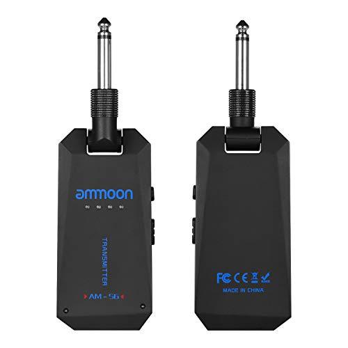 ammoon Nuevo 5.8G Inalámbrico Guitarra Receptor, Transmisor de Guitarra Sistema de Guitarra Cable Inalámbrico, Transceptor de Audio Banda ISM para Accesorios de Amplificador de Bajo Eléctrico