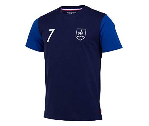 Fußball-T-Shirt FFF, Antoine Griezmann, offizielle Kollektion, Herrengröße M blau