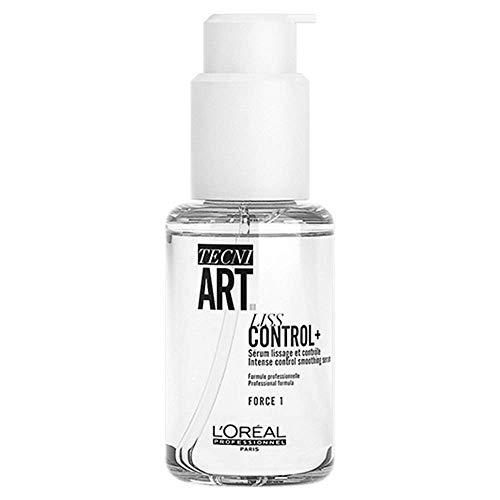 L'Oréal Professionnel Paris Tecni.ART Liss Control+, intensiv glättendes Styling-Serum, für kontrolliertes Volumen, Glanz & Geschmeidigkeit, für dickes & rebellisches Haar, 150 ml