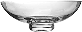 Hosley Clear Glass Bowl 11.8 Inch Diameter - Your Choice of Base Colors. Ideal Gift for Wedding or Special Occasion for Decorative Balls Orbs DIY Projects Terrariums and More. O4 (Clear)