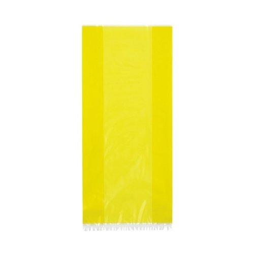 Pochette Cellophane Fête Bonbon Jaune Lot De 30 Taille 28cm x 13cm