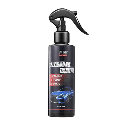 Btruely Auto Kunststoff Leder Retreading Agent Auto Innenraum Reiniger Reifenwachs Lackreinigungsmittel Interior Car Cleaner Dashboard Plastic Restore,Car Shine Waterless Wash&Wax Car Cleaner 120ml