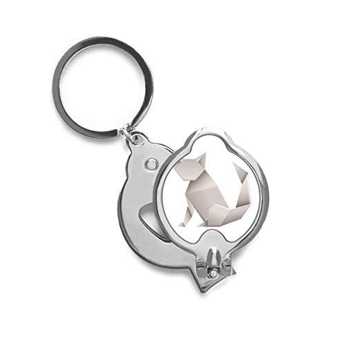 DIYthinker Modelo del gato Origami Extracto geométrico de la uña del cortador Trimmer