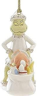 Lenox Grinch Steal Whos Feast Porcelain Ornament Dr. Seuss How The Grinch Stole Christmas