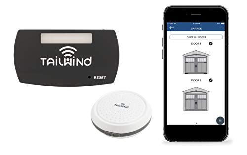 Tailwind iQ3 Premium Featured Smart WiFi Garage Door Opener - Internet Enabled Remote Control Compatible with Smartphones, Alexa, Google Home, Siri, Smart Things, IFTTT, Vehicle Sensor Included.