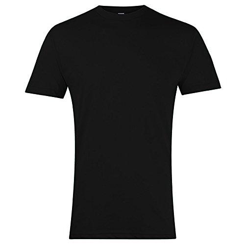 American Apparel Unisex T-Shirt mit Rundhalsausschnitt, Kurzarm (XL) (Schwarz)
