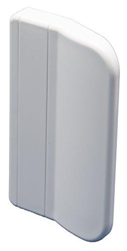 """CC-Shopping - Poignée de porte de balcon """"911"""", forme angulaire pour l'extérieur avec 2 vis de fixation, 70x45x13 mm, différentes couleurs (BLANC – RAL 9016)"""