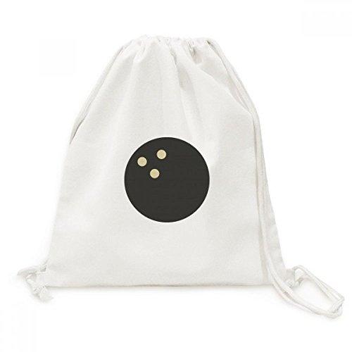 DIYthinkerBowling Sport Simple Geometry Pattern Backpack Canvas Drawstring Reusable Mesh Shopping Bag