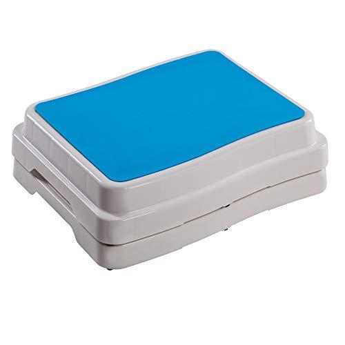 UPP 10 cm Badezimmer-Stufe stapelbar & erweiterbar | Belastbar bis 189 kg | Tritthocker für Senioren o. Kinder | Anti-Rutsch Trittstufe fürs Bad | Hocker für Badewanne & Dusche [2 Stk.]