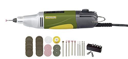 PROXXON Profi-Multifunktionswerkzeug, Industrie-Bohrschleifer IBS/E mit Einsatzwerkzeugen, 34-teiliges Zubehör-Set, 5000-20000/min, 230 V, 28481