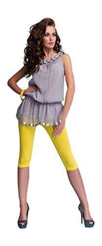 OssaFashion Donna Classici Leggings Corti 3/4 Cotone Pantaloni Tinta Unita Pantacourts