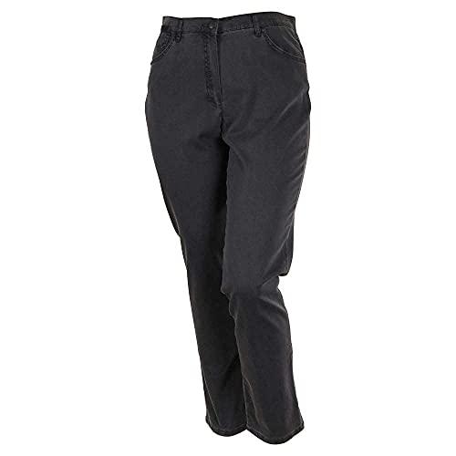 Raphaela by Brax Damen Corry Fame | Comfort Plus Jeans Hose, Grau (Anthra 8) , W32/L32 (Herstellergröße: 42K)