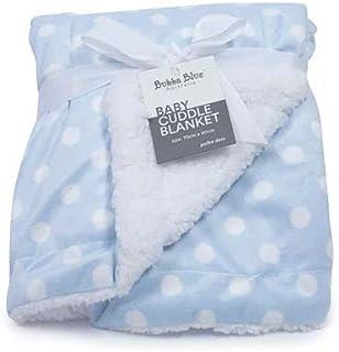 Bubba Blue Polka Dots Reversible Cuddle Blanket, Blue,