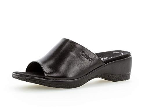 Gabor Damen ClogsPantoletten, Frauen Clogs,Comfort-Mehrweite, feminin elegant Women's Woman Freizeit leger Hausschuh Pantoffel,schwarz,38 EU / 5 UK
