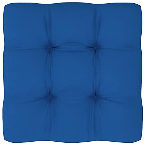 vidaXL Cojín para Sofá de Palets Asiento Silla Respaldo Jardín Patio Balcón Terraza Exterior Suave Cómodo Decoración Azul Royal 50x50x12 cm