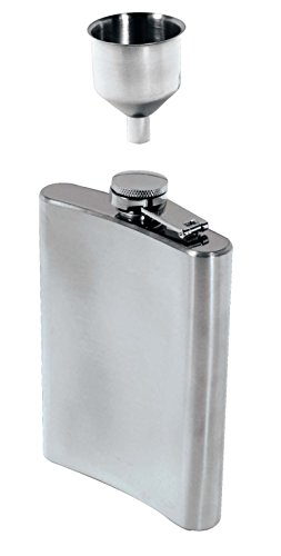 SE HQ90 8 oz. Stainless Steel Hip Flask and Funnel Set (2 PC.)